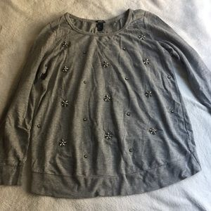 H&M Maternity Embellished Sweater - gray
